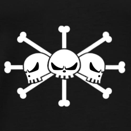 Blackbeard three skulls - Men's Premium T-Shirt