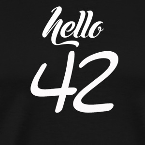 Hello 42 - Men's Premium T-Shirt