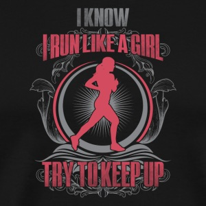 Run like a girl - Men's Premium T-Shirt