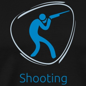 Shooting_blue - Men's Premium T-Shirt