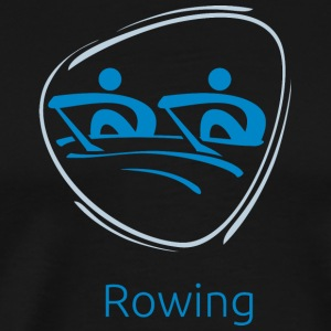Rowing_blue - Men's Premium T-Shirt
