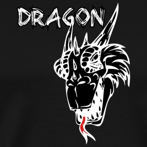 dragon_with_tongue_black - Men's Premium T-Shirt