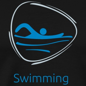 Swimming_blue - Men's Premium T-Shirt