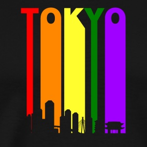 Tokyo Japan Rainbow Skyline LGBT Gay Pride - Men's Premium T-Shirt
