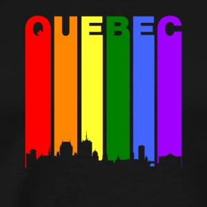 Quebec Canada Rainbow Skyline LGBT Gay Pride - Men's Premium T-Shirt