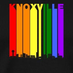 Knoxville Skyline Rainbow LGBT Gay Pride - Men's Premium T-Shirt