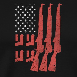 Never Disarm America Flag Shotgun Tshirt - Men's Premium T-Shirt