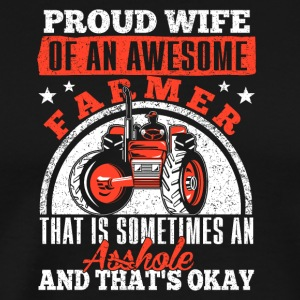 Wife proud of mechanic - Men's Premium T-Shirt