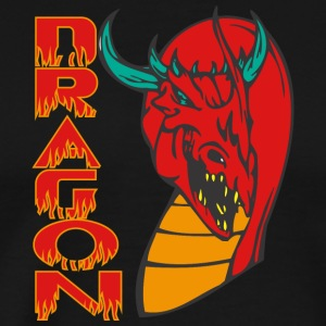 evil_dragon_head_colored - Men's Premium T-Shirt