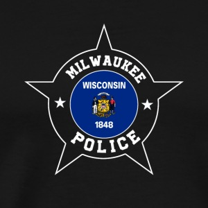 Milwaukee Police T Shirt - Wisconsin flag - Men's Premium T-Shirt