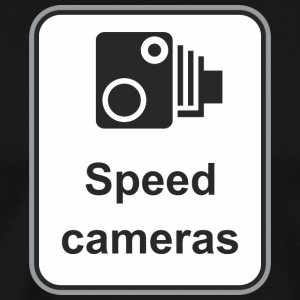 Road_sign_Speed_cameras - Men's Premium T-Shirt