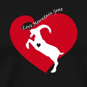 Love Mountain Goat Shirt - Men's Premium T-Shirt