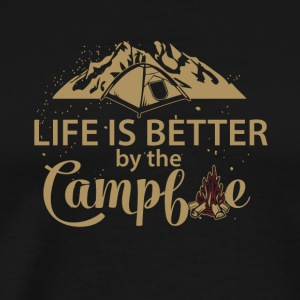 Life is better by the campfire - Men's Premium T-Shirt