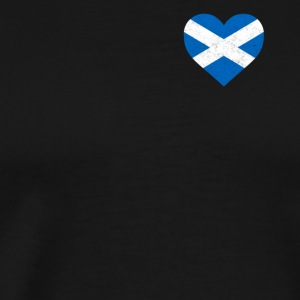 Scotland Flag Shirt Heart - Scottish Shirt - Men's Premium T-Shirt