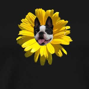 Boston Terrier Flower - Men's Premium T-Shirt