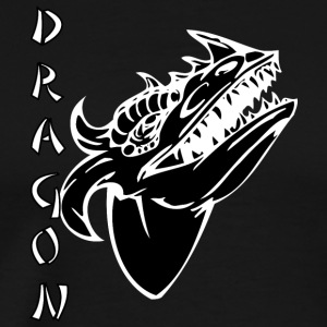 dragon_with_few_horns_black - Men's Premium T-Shirt