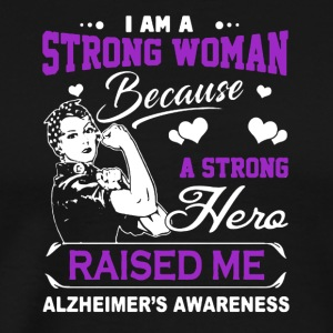 I Am A Strong Woman A Strong Hero Raised Me Shirt - Men's Premium T-Shirt