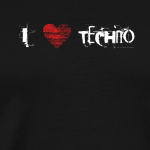 I love techno rave goa hardtek hardstyle - Men's Premium T-Shirt