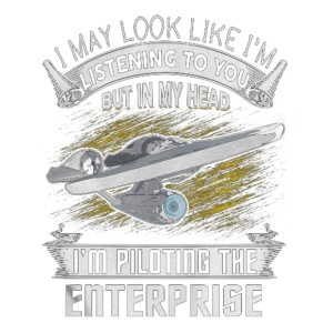 Piloting the Enterprise - Men's Premium T-Shirt