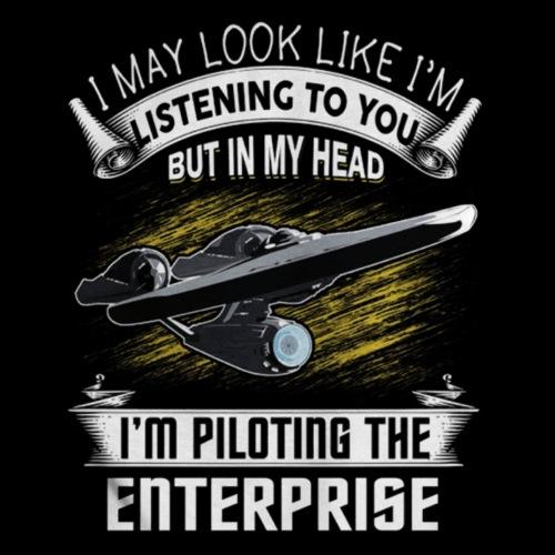 Piloting the Enterprise - Men's Premium T-Shirt
