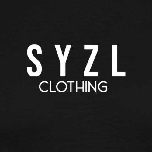 SYZL Clothing Text-2 White - Men's Premium T-Shirt