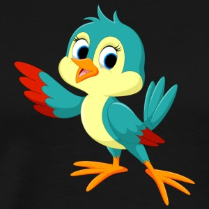 bird cartoon wildlife illustration cool art - Men's Premium T-Shirt