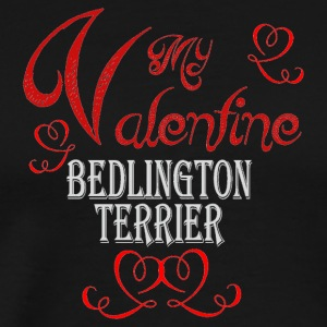 A romantic Valentine with my Bedlington Terrier - Men's Premium T-Shirt