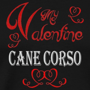 A romantic Valentine with my Cane Corso - Men's Premium T-Shirt