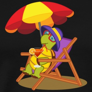 Turtle reptile beach cocktail umbrella wildlife - Men's Premium T-Shirt