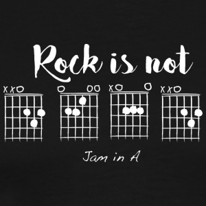 Rock is not D E A D, Jam in A. - Men's Premium T-Shirt