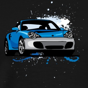 Blue_porsche_911 - Men's Premium T-Shirt