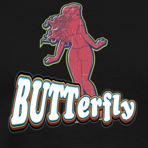 SEXY_BUTT_BUTTERFLY_RED - Men's Premium T-Shirt