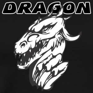 evil_dragon_with_hand - Men's Premium T-Shirt