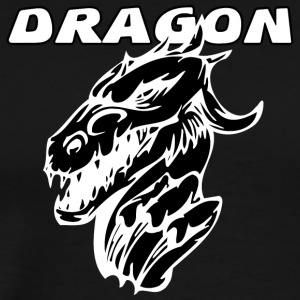 evil_dragon_with_black - Men's Premium T-Shirt