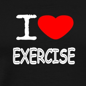 I LOVE EXERCISE - Men's Premium T-Shirt