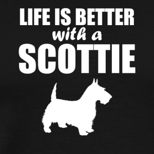 Life Is Better With A Scottie - Men's Premium T-Shirt