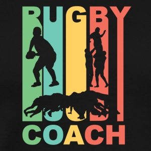 Vintage Rugby Coach Graphic - Men's Premium T-Shirt