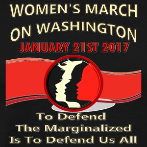 01-21-2017-Women's March On Washington, DC - Men's Premium T-Shirt