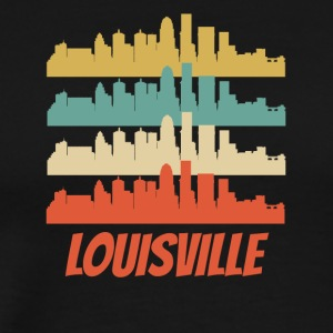 Retro Louisville KY Skyline Pop Art - Men's Premium T-Shirt