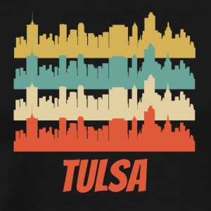 Retro Tulsa OK Skyline Pop Art - Men's Premium T-Shirt