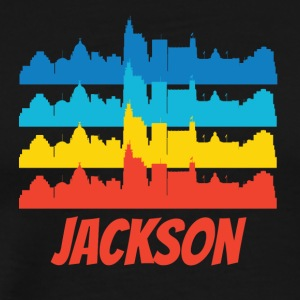 Retro Jackson MS Skyline Pop Art - Men's Premium T-Shirt