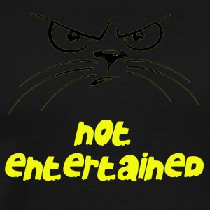 Cat Not Entertained - Men's Premium T-Shirt