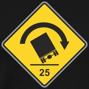 Road_Sign_25_truck - Men's Premium T-Shirt
