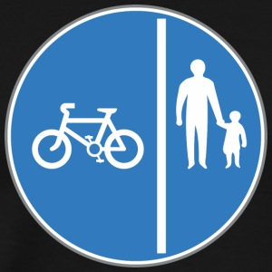 Road_sign_bicycle_and_man_with_child - Men's Premium T-Shirt
