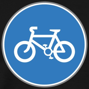 Road_sign_bicycle_blue - Men's Premium T-Shirt