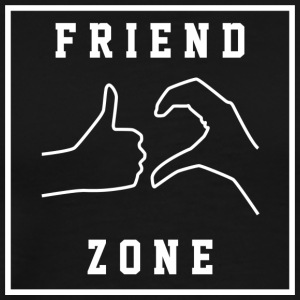 Friendzone | Romance, Valentines, Friends, Love - Men's Premium T-Shirt