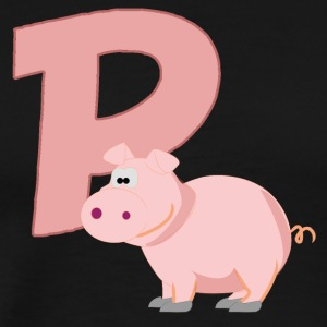 P Is For Pig - Men's Premium T-Shirt