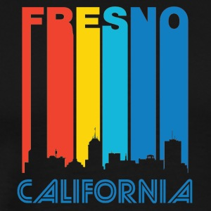 Retro Fresno Skyline - Men's Premium T-Shirt