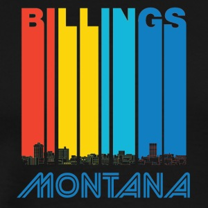 Retro Billings Montana Skyline - Men's Premium T-Shirt