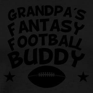 Grandpa's Fantasy Football Buddy - Men's Premium T-Shirt